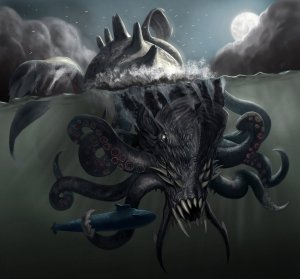 Of course, who's ever on that submarine isn't going to last once the Kraken is done playing with it. Still, Perseus didn't fight with this monster in the original myths, because it's a Scandinavian monster, not Greek. Having Thor fight it would make more sense.