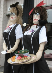 Now I'm sure these two are from a movie I've seen or something but I'm not sure where from. Still, they seem pretty creepy if you ask me. I mean they seem to hate their waitress jobs so much that they're willing to kill a few unsatisfied customers for kicks.