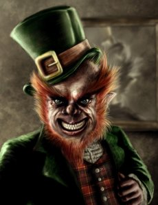 Sure this leprechaun may seem scary looking but he's a mostly harmless creature associated with Saint Patrick's Day. Of course, he doesn't take too kindly on negative Irish stereotypes though.