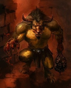 Of course, you don't want to face this man eating bull headed monster. Seriously, this guy is almost unstoppable for a human and bovine hybrid. Still, he was the monster in the original Hunger Games in the Ancient Greek legends.