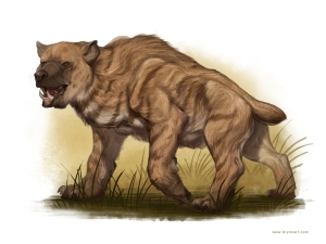 Of course, this creature looks more like a cross between a bear and a hyena. Yet, the Nandi Bear is very aggressive and will kill you in very brutal ways so it could chomp on your brains. Lovely.