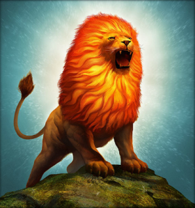 Of course, this may be a magnificent lion but its a real destructive force and has skin that's almost indestructible. That's why Hercules strangled it with his bare hands and wore its skin for armor.