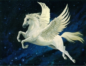 Now Pegasus was one of the coolest horses in Greek Mythology, and no, he didn't get his wings from drinking a bunch of Red Bull. Still, I can see why Zeus kept him after Bellephron fell off of him.