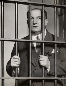 Cincinnati booze baron George Remus behind bars. After he gets out of prison he's going to find out his wife had an affair and basically swindled him royally. He'd then kill her in front of a lot people in broad daylight and get off on temporary insanity. Yet, George Remus won't be nearly that rich again.