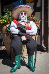 Despite the Mexican stereotypes, this is actually a good Mexican scarecrow, especially with the skull mask from The Day of the Dead. Still, are those cowboy boots?