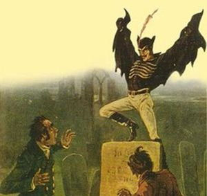 Spring-heeled Jack may wear an outfit similar to Batman but remember he's not known to be associated with good things. In fact, just the opposite. Still, he's one of the better known creatures from Victorian urban legend.