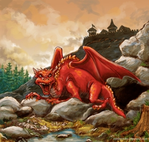 The Smok Wawelski was a ferocious man eating dragon in Poland that seemed almost unstoppable until a cobbler's apprentice gave it a lamb full of sulfur. Guess the moral of the story is that taxidermists aren't creeps. Yeah right.