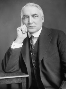 Warren G. Harding did make a dandy looking president in the early 1920s. Too bad that he was a horrible judge of character that Teapot Dome happened.