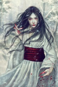 Known as the Japanese Snow Woman, the Yuki-Onna is known to lure and kill almost every man she encounters in the snowy mountains, especially if they're domestic abusers or evil. Of course, she has been in relationships with several men and has let a few goodhearted men go from time to time.