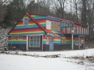 Sure it may look a bit decrepit and abandoned. But I'm sure the next Cabin in the Woods film isn't going to be set at this place. That is, unless who's killing everyone there is a big fan of Lisa Frank.