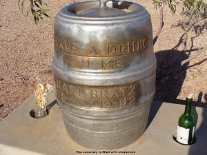 The fact his grave has a keg makes me wonder if alcohol had anything to do with his death. Probably did.