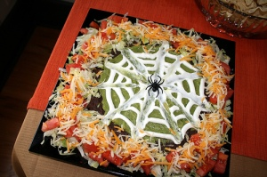 Now I'm sure this would be a nightmare to an arachnophobic who loves guacamole. I wonder if that person would dip his or nacho in it.