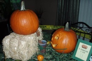 "I'm sure a display saying ""2 Pumpkins, 1 Cup"" won't go well with guests. Also, it's pretty disgusting on what's implied to be in the cup."