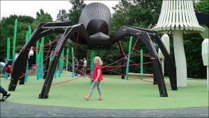 Now I don't care what anyone else says about this. However, giant spiders are creepy, especially if they make giant webs. And we all know what a spider web is for.
