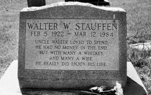 Now if the liver cirrhosis didn't kill him at 62, then the divorce settlement might've had something to do with it. Not to mention, the fact his nephews and nieces erected his tombstone.