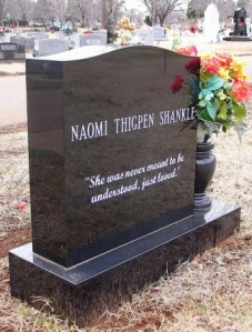 I guess the epitaph is there because of her silly name. Seriously, it seems like her name reads like something Monty Python would make up.