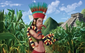 Chicomecōātl  is the goddess of agriculture who presides over maize growth and harvest. Still, every September she does request for a young girl sacrificed as a thank you gift.