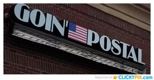 "Aside from being a name of a major shipping franchise, ""going postal"" also means becoming extremely or uncontrollably angry, often to the point of violence, and usually in a workplace environment. It gets its name from a bunch of post office incidents from 1986s onwards about postal workers attacking and killing their fellow employees and managers."