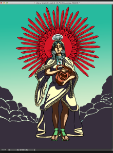 Though Chimalma is best known for guiding the Aztecs from Aztlan, being Huitzilopochtli's shield bearer, and mother of Quetzelcoatl, she's little known for much else. Still, she either conceived the Feathered Serpent through swallowing a jade or sleeping with Mixcoatl after he shot an arrow between her legs.