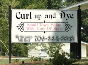 If Sweeny Todd could expand into the beauty parlor business, this would be the perfect name for it. Still, I'm sure people don't want to have any thoughts about death while getting their haircut, especially after watching Sweeny Todd.