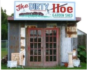 Finally, a perfect place for lonely men to get petunias, fertilizer, and a watering can for their mothers as well as a female escort for themselves.