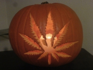 Now I'm sure police wouldn't want to search your house if they saw that pumpkin carving would they? Of course, that only goes for people who live outside of Colorado and Washington.