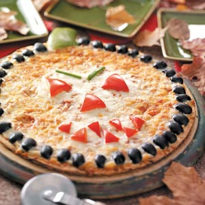 Actually, I might only be joking here. Yet, still, Italians in Italy really do make pizza without the cheese and tomato sauce. Whether they make jack-o-pizzas, I may never know.