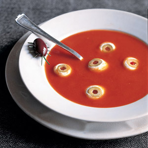 Okay, it's not really as sick as it's made out to be. I mean it's only tomato soup with eyeball crackers and the bug is a prop. Still, I just love to say that.