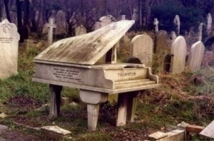 Of course, let's just say some people in the olden days were just as creative with their graves as some people today. Of course, the marble doesn't hold up well with the rains.