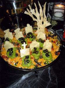 Now I guess that seems like quite the party platter there. Still, I hope the green ooze is just guacamole.