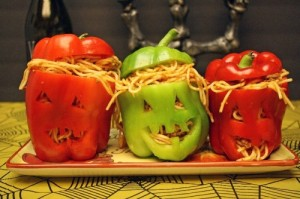 Of course, these seem pretty sick but fairly clever. Yet, I'm not sure if the pasta is supposed to represent the pumpkin contents or worms.