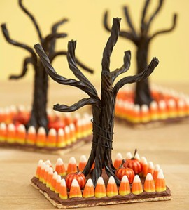 Understanding that black licorice and candy corn aren't high on people's favorite Halloween candy lists, I wonder if these were just made for decoration.