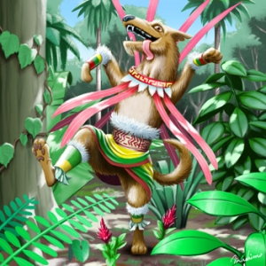 Huehuecoyotl was one of the more popular gods of the Aztec pantheon and its resident trickster deity. Still, whether he helps humanity or causes genocide usually depends on his mood. He'd also hump anything.