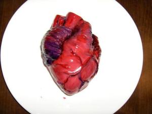 Hey, it's Halloween what do you expect a heart cake to look like this time of year! This isn't Valentine's Day, people!