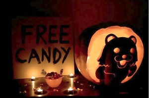 Now I know that Pedobear is actually used to mock pedophiles as well as child sexualization like kiddie pageants and not as a mascot for pedophilia. However, this doesn't stop people from being offended by him. Also, it might repel more trick or treaters than attract especially if they're with their parents.