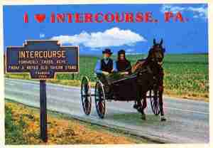 Of course, I'm sure the town of Intercourse sells a lot of merchandise. Yet, I'm positive it's not because people like their Amish country. May have more to do with the name Intercourse.
