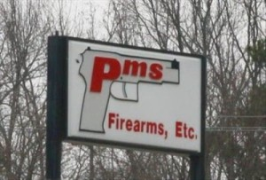 The gun store for those women experiencing that time of the month when they need to go on a homicidal rampage. Yeah, firearms, that's what all moody women need while on their periods.