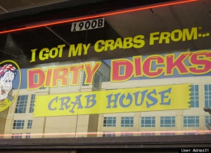Let's hope the crabs you got from Dirty Dick's are the ones you ate on your plate. Of course, Dirty Dick may be laden with STDs for all you know. Still, seriously, why go with the STD angle on crab shacks? Come on.