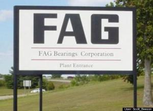 "This is a ball bearings company in Germany and apparently FAG is an abbreviation for a German saying. Yet, in English, ""fag"" is short for ""faggot,"" which is a derogatory slur to gay people."