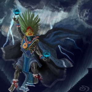 Thaloc may be one of the more unpleasant gods in the Aztec pantheon yet since he's the rain god, he's one of the more essential. Still, his abode in the heavens is said to be an earthly paradise.