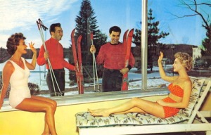 Still, knowing that these skiers are wearing red shirts, I have a good feeling that neither of these ladies will ever see them again. We all know what happens to redshirts during these planet scenes.