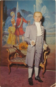 """Still, this reminds me more of a 18th century Jimmy Cagney about to sing """"Yankee Doodle Dandy,"""" than the sage at Monticello. Nevertheless, this is a terrible wax representation of an American Founding Father."""