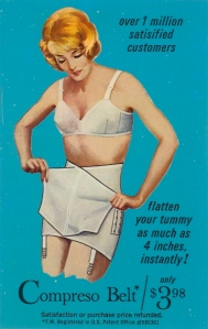 "Or as we know these undergarments, ""spanx."" I'm sure we didn't call them by that name in those days but spanx have been around for so many generations."