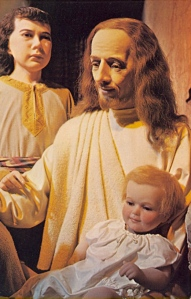 With wax children this creepy, I can see why Jesus' apostles were rather concerned about them. Still, those kiddies don't seem completely innocent to me. I just wish Jesus could just get the hell out of there before those tykes try to murder him.