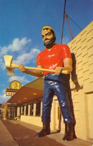 I'm sure Paul Bunyan is determined to take his suppressed rage to the world since his dad hated it when he put on women's clothing and hanged around in bars.