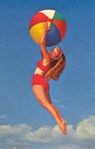 I'm sure her trampoline must be enormous to have her jump that high into the sky. Then again, it's probably photoshop.