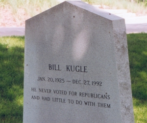 Of course, I don't vote for Republicans either but that because they're just crazy, egocentrically religious nutjobs, Corporate American lapdogs, idiots or all of the above in my book. Of course, this is jut my political opinion but I could see Kugle's point.