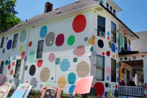 "Now this polka dot house may get the neighbors asking the owner, ""Are you high?"" Also, I'm sure that they don't go well on a house at all."