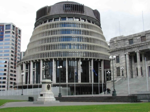 "Actually, this place is known as ""The Beehive"" which houses New Zealand's Parliament. But still, it pretty much looks like some evil overlord's  palace from a science fiction film."
