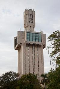 This is the Russian Embassy of Havanna. Yet, it kind of looks like some giant warrior frozen in a mixture of glass, steel, and concrete over some sort of curse. But it's still pretty intimidating.